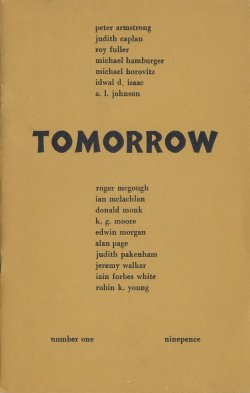 Tomorrow, no. 1, edited by Ian Hamilton