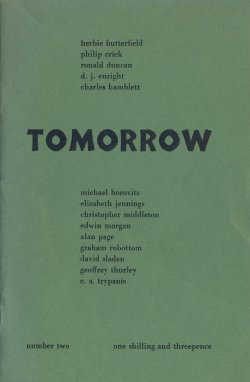 Tomorrow, no. 2, edited by Ian Hamilton